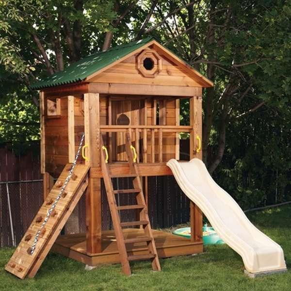 двухэтажные детские домики
