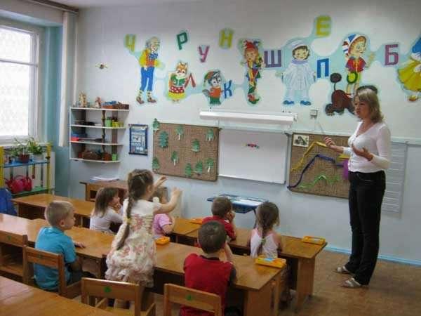 Комната для занятий в детском саду