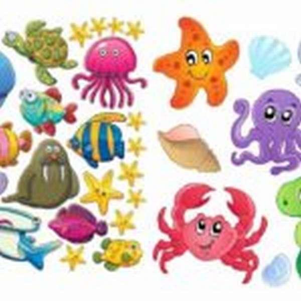 картинка морские обитатели