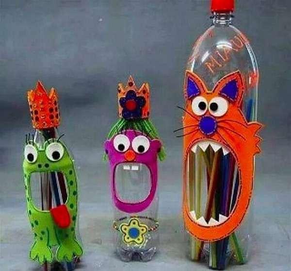 чудики из пластиковых бутылок