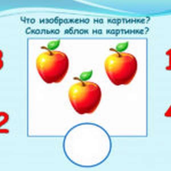 Яблоки для счёта