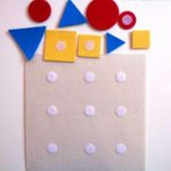 коврик с геометрическими фигурами