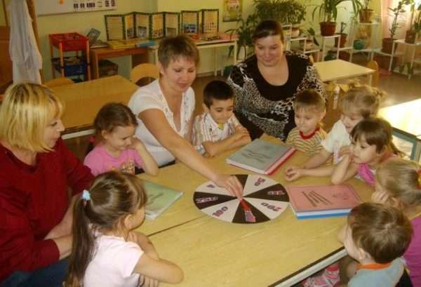 Дети и взрослые играют в «Поле чудес»