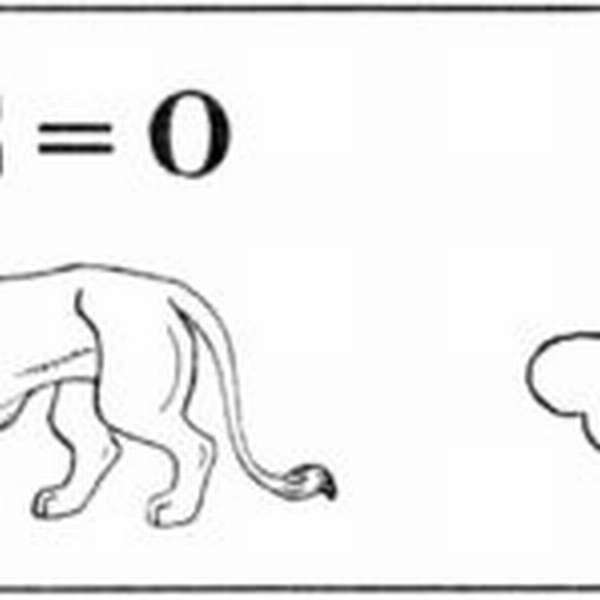 Ребус со львом и костью