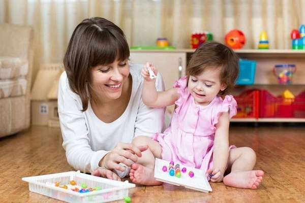 Занятия с двухлетним ребёнком дома