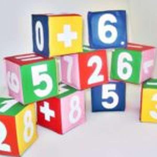 Мягкие кубики с цифрами