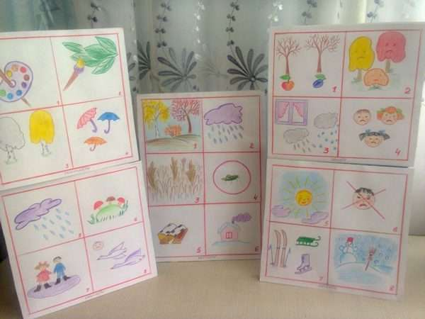Примеры мнемокарт для дошкольников