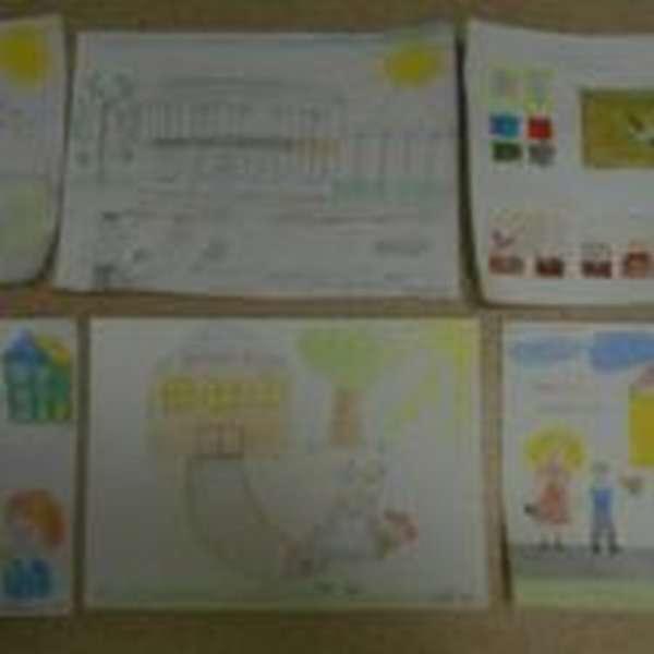 Шесть рисунков, посвящённые школе