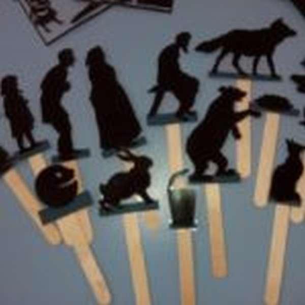 Фигурки для теневого театра