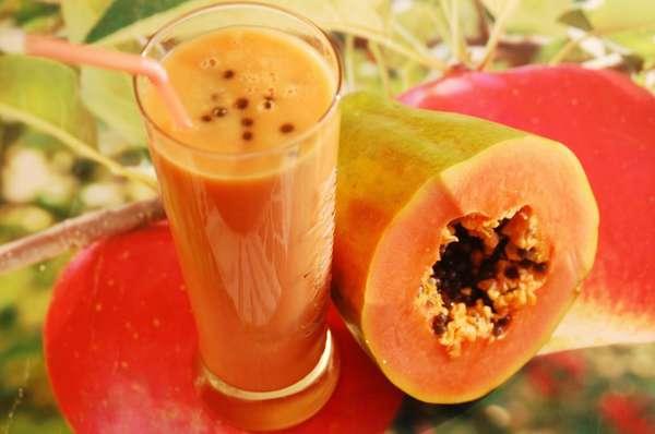 Из папайи можно сделать вкусный фреш