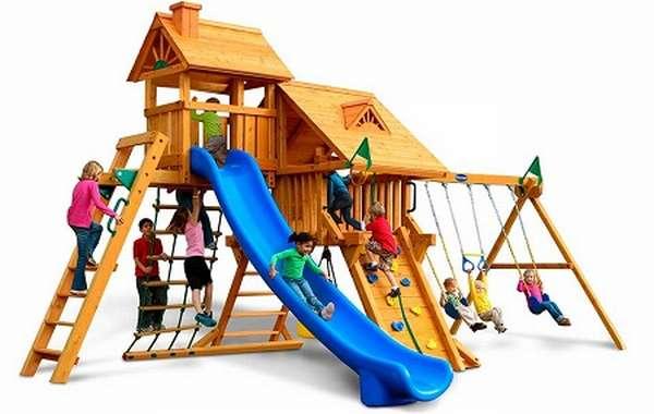 детский деревянный игровой комплекс