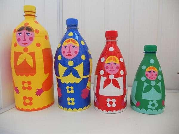 матрешки из пластиковых бутылок