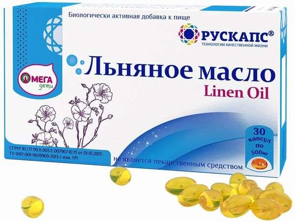 Льняное масло может продаваться в виде пищевых добавок