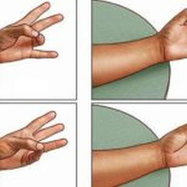 Четыре положения пальцев по отношению к большому