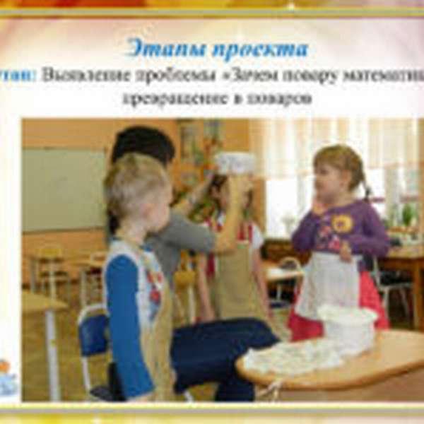 Дети надевают костюмы поваров