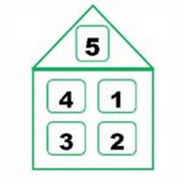 Домик с составом числа 5