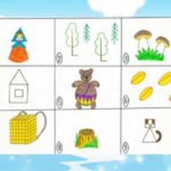 Мнемотаблица к сказке «Маша и медведь»