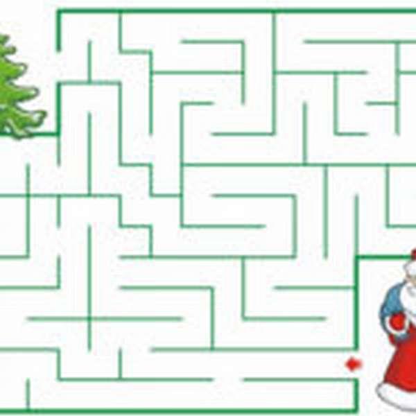 лабиринт с Дедом Морозом