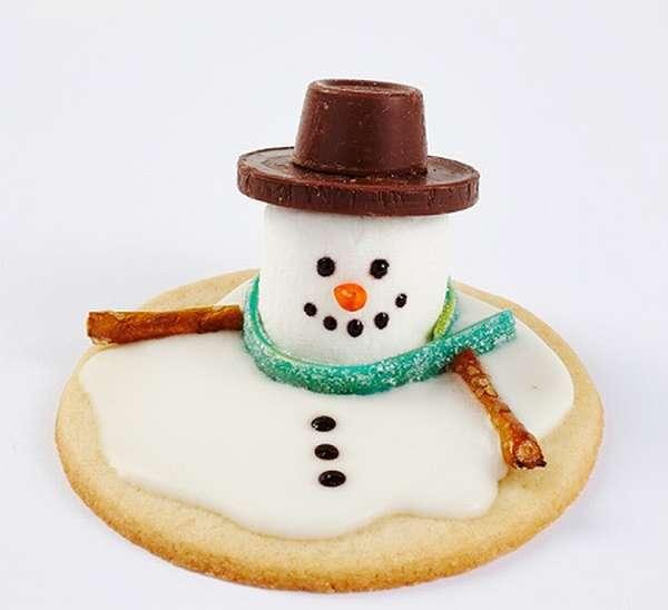 печенье тающий снеговик1