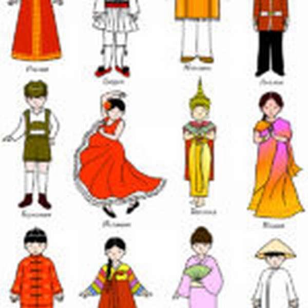 Плакат с национальными костюмами