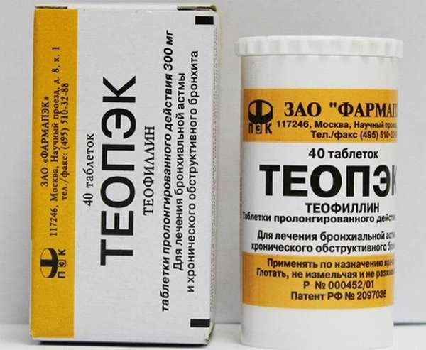 Препараты Теопэк и Эуфиллин можно приобрести в аптеке без рецепта