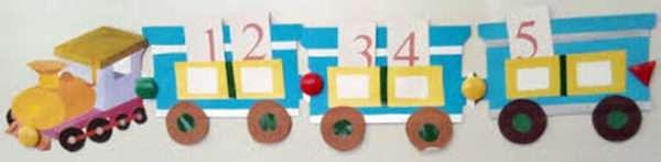Математический поезд (вагоны с циферками)