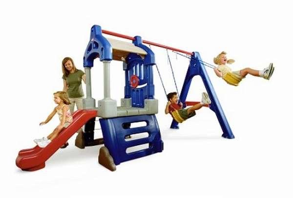 детский пластмассовый игровой комплекс