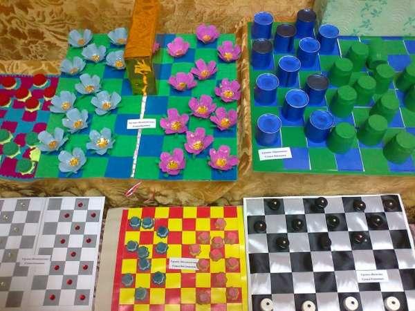 Конкурс креативных шашек среди родителей