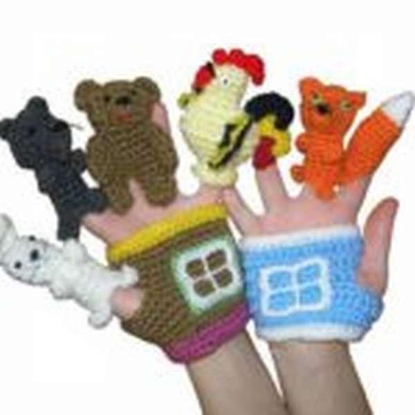 Вязаные пальчиковые куклы