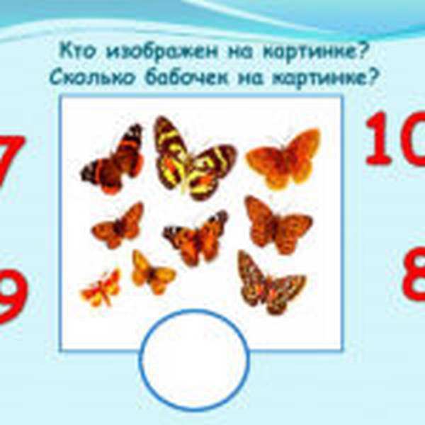 Бабочки для счёта
