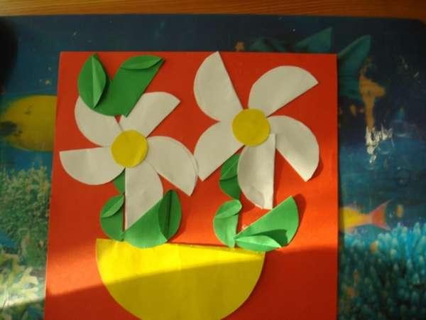 Аппликации из кругов цветной бумаги для детей