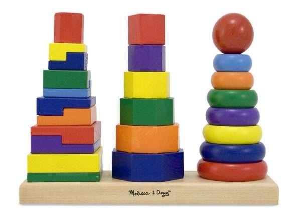 Наборы для игры «Собираем пирамидку» разного уровня сложности
