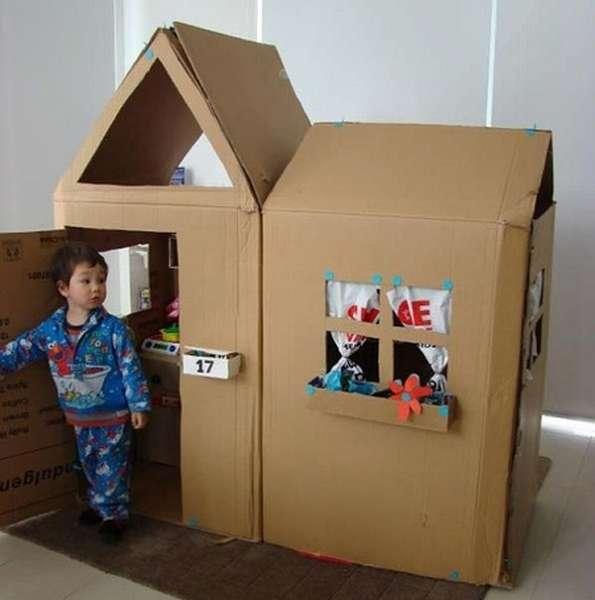картонный домик для детей