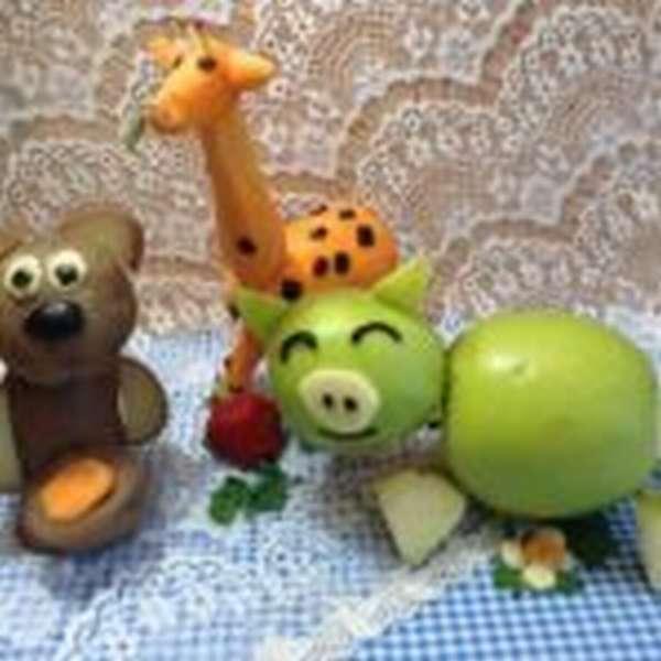 Животные из овощей