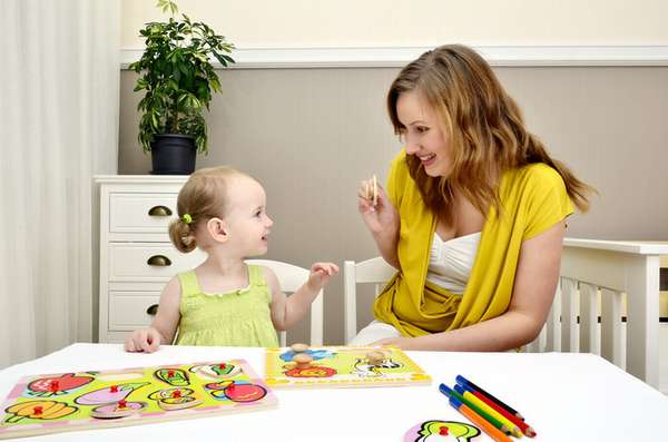 Домашние занятия с ребёнком двух лет