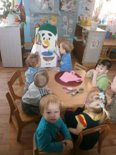 Дошкольники на занятии «Я учусь у Мойдодыра»