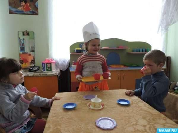 Игра «Столовая» в младшей группе