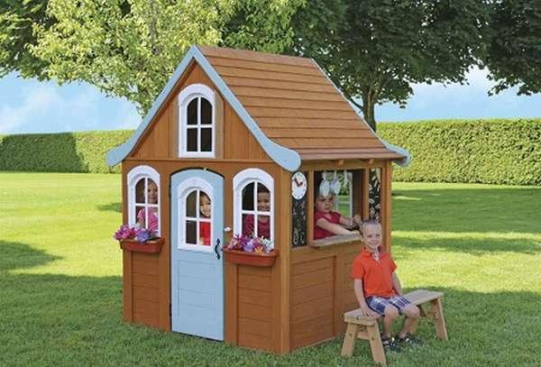 детские игровые домик из дерева