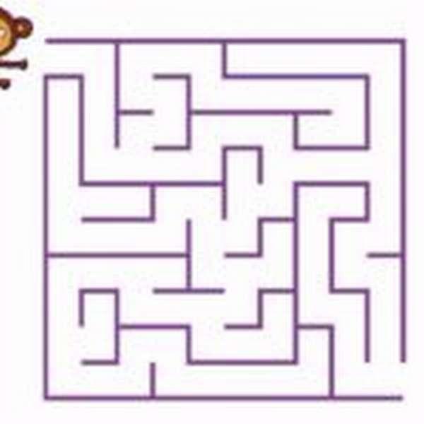лабиринт с обезьянкой