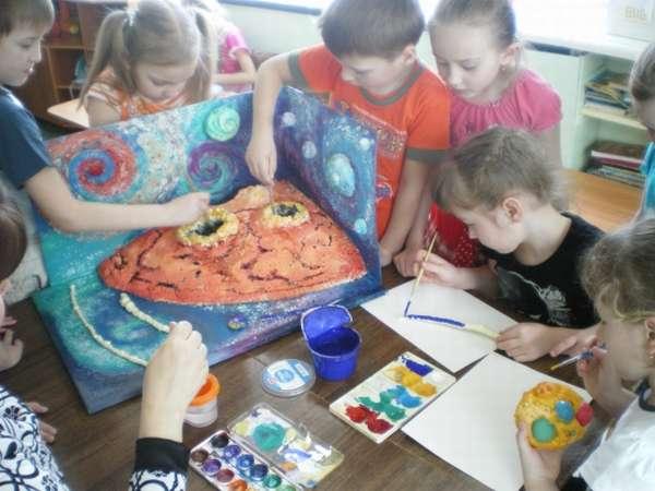 Продуктивная деятельность детей во время игры-путешествия «Эпоха динозавров»