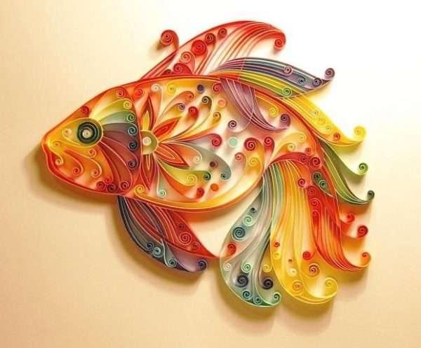 Рыбка в технике квиллинг