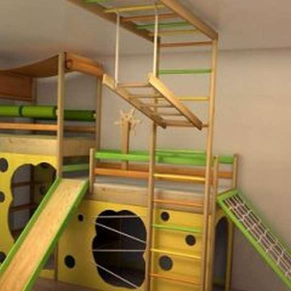 спортивные комплексы для детей в инерьере