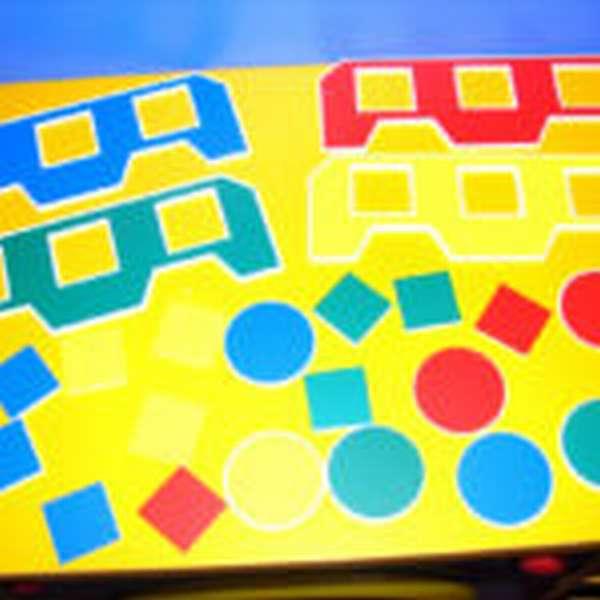 Пособие «Автобус» для изучения геометрических фигур