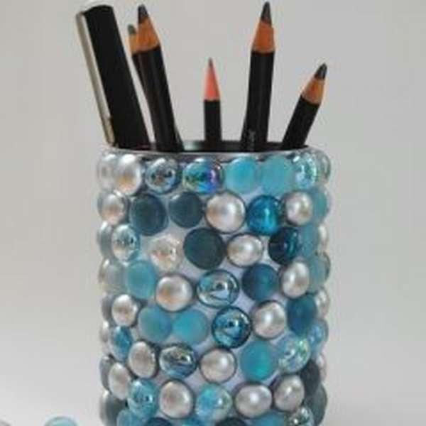 подставка под карандаши из пластиковых бутылок