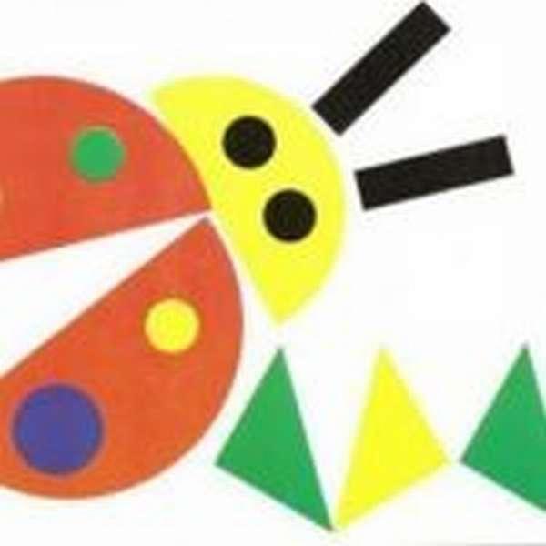 жук из геометрических фигур — дидактический материал