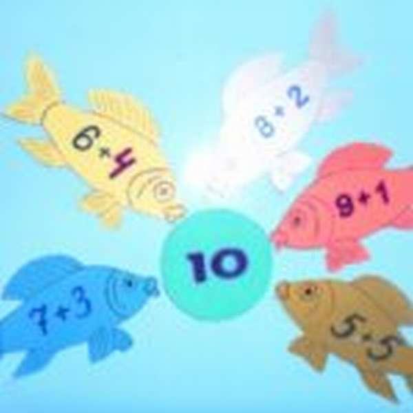 Рыбки с примерами носами упираются в цифру 10