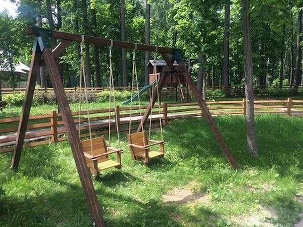 деревянные качели для детей 1