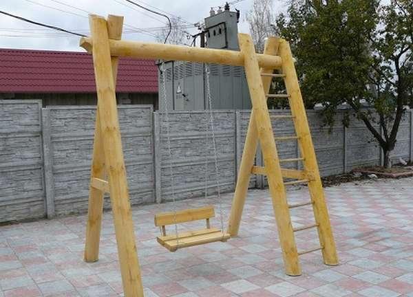 деревянные качели для детей