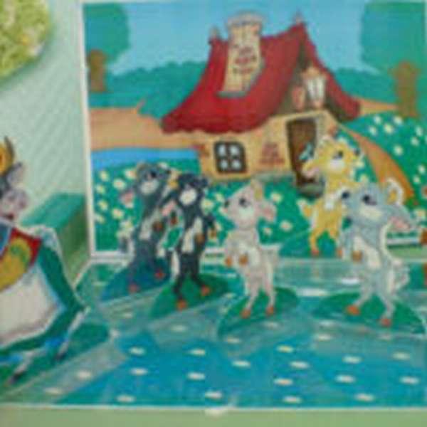 Плоскостные персонажи и декорации к сказке «Волк и семеро козлят»
