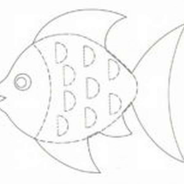 Шаблон рыбки с объёмными плавниками